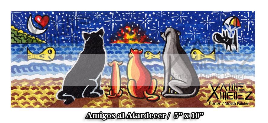 AMIGOS AL ATARDECER